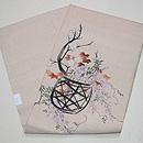 花籠の手描き名古屋帯 帯裏