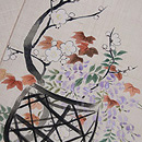 花籠の手描き名古屋帯 質感・風合