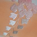横段に藤の刺繍の名古屋帯 質感・風合