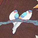 楓に小鳥の刺繍名古屋帯 質感・風合