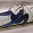 柳にツバメ刺繍の名古屋帯 質感・風合