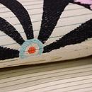 片輪車紋絽塩瀬の袋帯 質感・風合