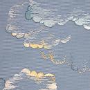 青空に綿雲文様絽紗地名古屋帯 質感・風合