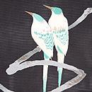 枝に二羽の尾長絽の名古屋帯 質感・風合