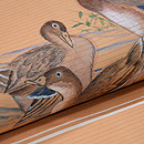 葦辺に鴨の絽名古屋帯 質感・風合