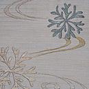 流れに海松の刺繍絽紗名古屋帯 質感・風合