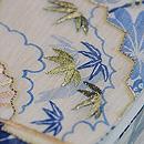 水辺文様麻の半巾帯 質感・風合