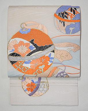 鈴文様刺繍紋織袋帯