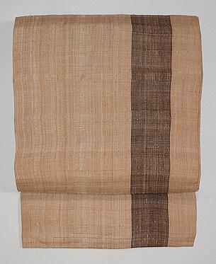 一本縞芭蕉布名古屋帯