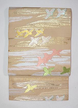 龍村平蔵製 袋帯友千鳥