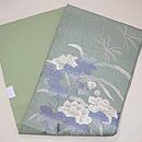 青竹色牡丹の刺繍絽の名古屋帯 帯裏