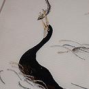 川鵜の絽紗刺繍名古屋帯 質感・風合