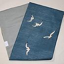 カモメの刺繍紗の名古屋帯 帯裏