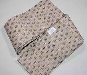 生平麻に小絣の半巾帯