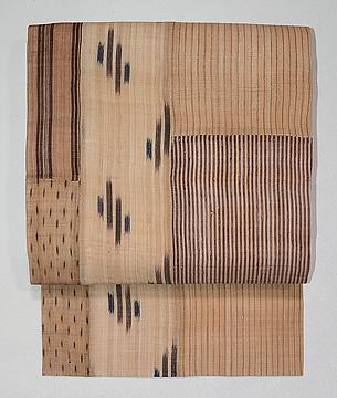 芭蕉布切り継ぎの名古屋帯