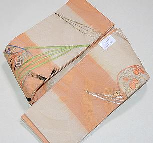 刺繍の半巾帯