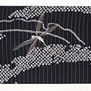 雪輪紋にトンボの絽名古屋帯 前柄
