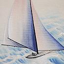 ヨットの名古屋帯 質感・風合