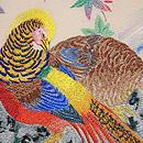 キジの刺繍の絽名古屋帯 質感・風合