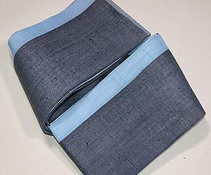 上布切り継ぎの半幅帯