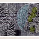 波に丸文様織の紗名古屋帯 前柄