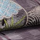 波に丸文様織の紗名古屋帯 質感・風合