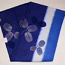 藍暈し萩模様名古屋帯 帯裏