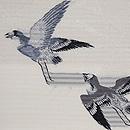 白地雀の絽紗名古屋帯 質感・風合