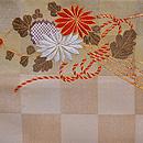菊の花束文様袋帯 前柄