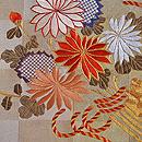 菊の花束文様袋帯 質感・風合