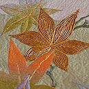 秋の片輪車文様袋帯 質感・風合