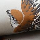 雀の描き絵名古屋帯 質感・風合