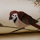稲穂に雀刺繍名古屋帯 質感・風合