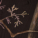 森林に鹿の刺繍名古屋帯 質感・風合