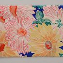 菊の染め名古屋帯 前柄