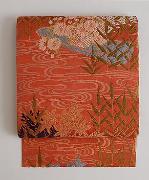 花筏の唐織名古屋帯