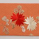 菊の花かご刺繍名古屋帯 前柄