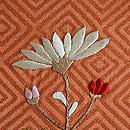 菊の花かご刺繍名古屋帯 質感・風合