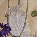 オウムの刺繍名古屋帯 質感・風合