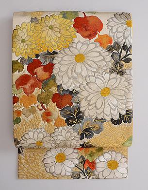 白菊文様袋帯