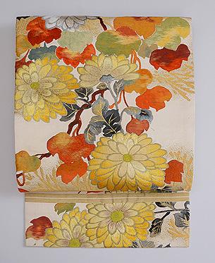 黄菊文様袋帯