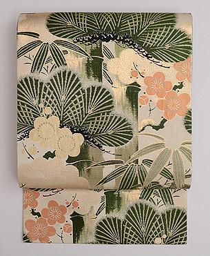 松竹梅の織名古屋帯
