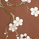 梅柄の刺繍名古屋帯 質感・風合