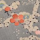 梅木に鶴の着物崩し名古屋帯 質感・風合