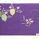 茅葺き門に四季の花文様刺繍名古屋帯 前柄