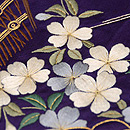 茅葺き門に四季の花文様刺繍名古屋帯 質感・風合