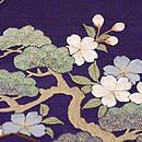 草庵に四季の花文様刺繍名古屋帯 質感・風合