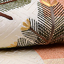 石畳文様に若松刺繍の名古屋帯 質感・風合