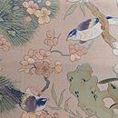 桜に小鳥織り名古屋帯 前柄
