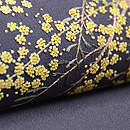 グレー地ミモザの刺繍名古屋帯 質感・風合